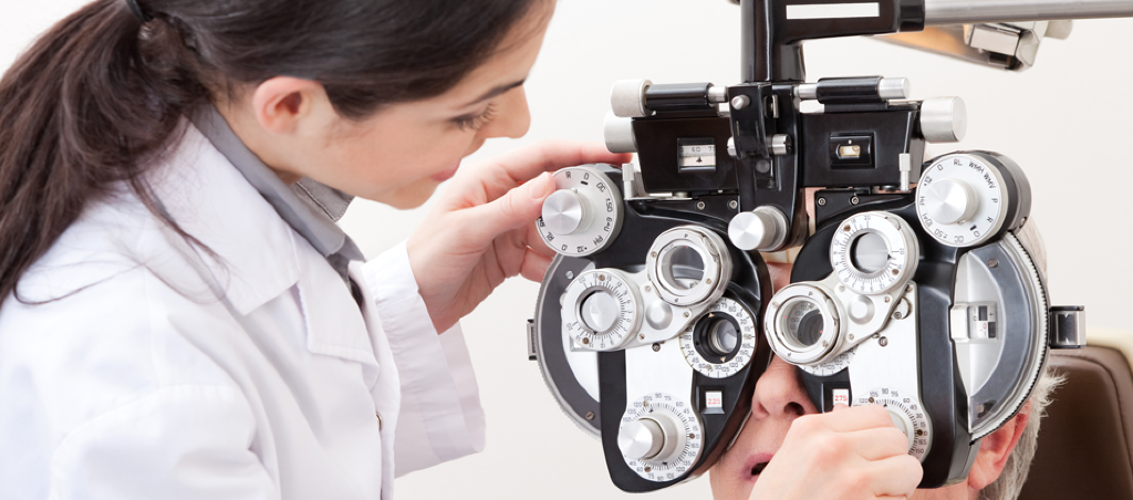 Eyeglass and eye exam patient at Eye Associates of Fort Myers